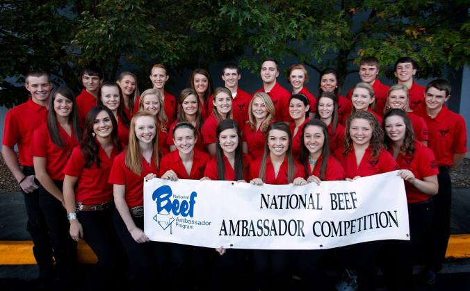 The 2015 National Beef Ambassador Competition Contestants.