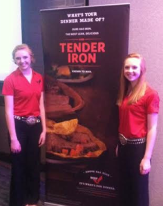 Claire (left) and Kendall Garrell at the National Beef Ambassador Competition.
