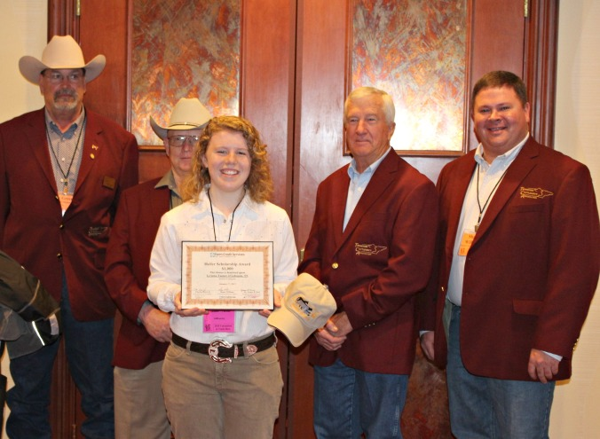Shane Williams (far right) with TCA leadership and scholarship winner, LeAnna Turner