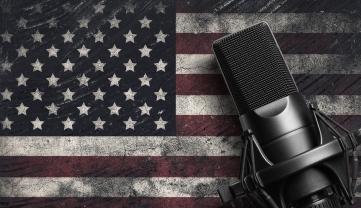 Microphone. Modern Sound System Equipment